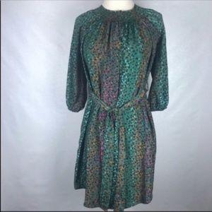 Bar lll Leopard Print Belted Dress
